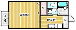 橘倶楽部四番館[421号室]の間取り