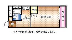 EFT−牛田新町[302号室]の間取り