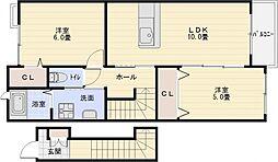 グリーンヴィラ2[2階]の間取り