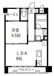 アールズプレイス福岡香椎駅前 3階1LDKの間取り