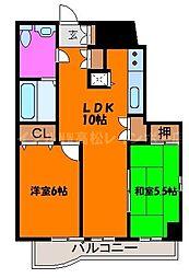 香川県高松市天神前の賃貸マンションの間取り