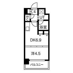 S-RESIDENCE淀屋橋[7階]の間取り