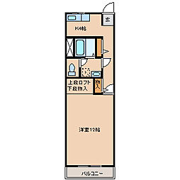 福岡県筑後市大字一条の賃貸アパートの間取り