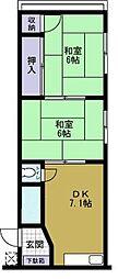 大阪府大阪市此花区春日出中2丁目の賃貸マンションの間取り
