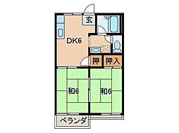 タウニィ浜代I・II[2階]の間取り