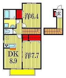 コーラル・スクエアB棟[2階]の間取り