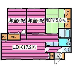 藤見ハイツ[203号室]の間取り