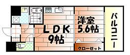 竪町センタービル[9階]の間取り