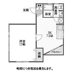 徳島県徳島市富田橋5丁目の賃貸アパートの間取り