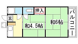 SUZURANDAI-SOUTH[A-102号室]の間取り