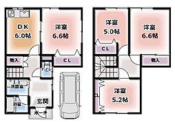 [テラスハウス] 大阪府門真市常盤町 の賃貸【/】の間取り