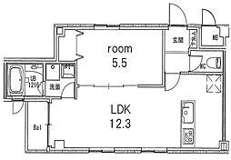 アメニティ幅下[2階]の間取り