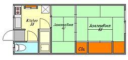 平荘(西棟)[203号室号室]の間取り