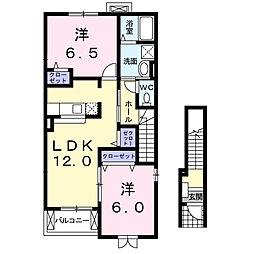 デスパシオA[2階]の間取り