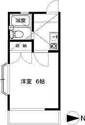 湘南台ドミール21A[1階]の間取り