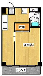 椎山マンション[202号室]の間取り