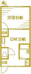 光洛荘[1階]の間取り