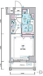 JR山手線 田町駅 徒歩13分の賃貸マンション 7階1Kの間取り