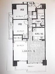 オーベル相模原[11階]の間取り