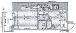 Osaka Metro御堂筋線 梅田駅 徒歩13分の賃貸マンション 14階1Kの間取り