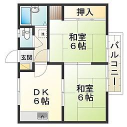 エステート近畿日野B[2階]の間取り