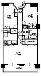 パークエステート博多[2階]の間取り