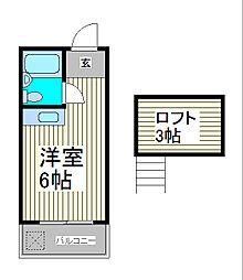 メゾンハピーI[3階]の間取り