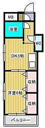 ジュネパレス新松戸第47[4階]の間取り
