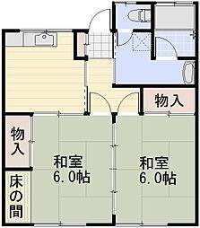 長野県長野市大字高田の賃貸アパートの間取り