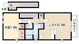愛知県名古屋市南区北内町5丁目の賃貸アパートの間取り