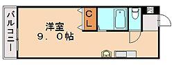 アーバン川津[1階]の間取り