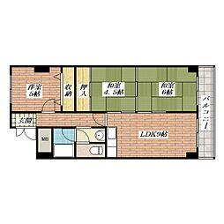 グリーンタウン茨木五番館[9階]の間取り