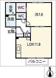 ノンシャラン B棟[1階]の間取り