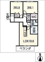 仮)D−room大垣市宿地町[3階]の間取り