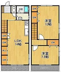 [テラスハウス] 兵庫県宝塚市川面1丁目 の賃貸【/】の間取り