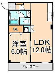 東京都足立区北加平町の賃貸アパートの間取り
