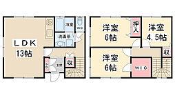 [テラスハウス] 兵庫県川西市松が丘町 の賃貸【兵庫県 / 川西市】の間取り