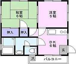 鎌田コーポ2[301号室号室]の間取り