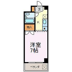 パックス恵方2[3階]の間取り