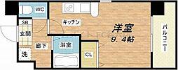 都島本通4丁目新築マンション 2階ワンルームの間取り