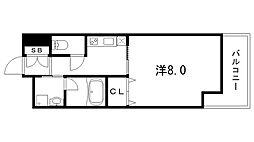 兵庫県神戸市中央区日暮通4丁目の賃貸マンションの間取り