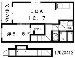 サンククレール[2階]の間取り