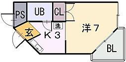 新星ビル上小阪[1階]の間取り