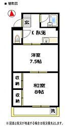 Fマンション[201号室号室]の間取り
