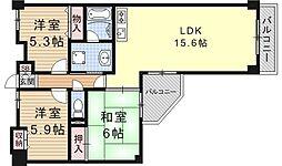 大翔第二ビル[401号室号室]の間取り