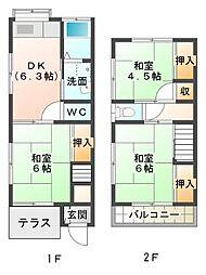 [テラスハウス] 静岡県三島市若松町 の賃貸【/】の間取り
