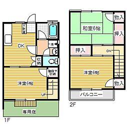 [テラスハウス] 東京都青梅市野上町1丁目 の賃貸【/】の間取り