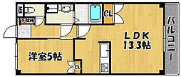 兵庫県明石市和坂2丁目の賃貸マンションの間取り