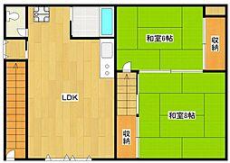 北加賀屋マンション[1階]の間取り