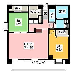 エスポア橘 501号室[5階]の間取り